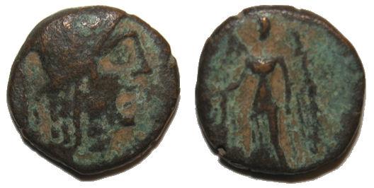 AE 15 del reino de Nabatea, Aretas II Aretas%20II%20nike